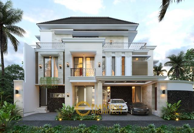 Desain Rumah Modern Classic 3 Lantai Ibu Winda di  Padang, Sumatera Barat