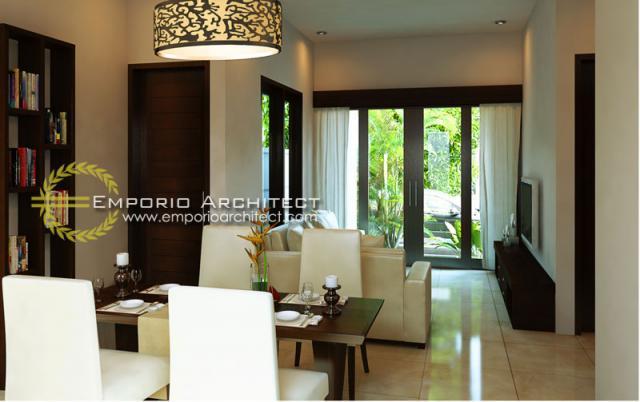 Desain Interior Rumah Villa Bali 1 Lantai Bapak Putra Depok di Depok