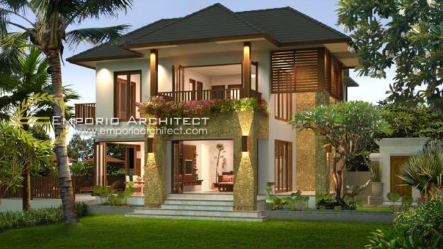 Desain Rumah Villa Bali 2 Lantai Bapak Tri Widana di Bali
