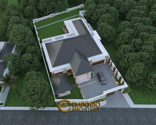 Desain Master Plan Rumah Villa Bali 1 Lantai Bapak Ayat di Serang, Banten