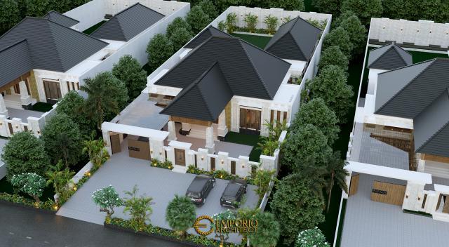 Desain Master Plan Rumah Villa Bali 1 Lantai Bapak Jon di Pekanbaru, Riau