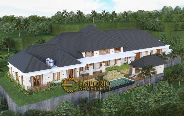 Desain Exterior 8 Rumah Villa Bali 1 Lantai Mr. D di Bukittinggi, Sumatera Barat