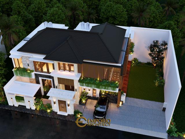 Desain Rumah Villa Bali 2 Lantai Bapak Anang di  Yogyakarta