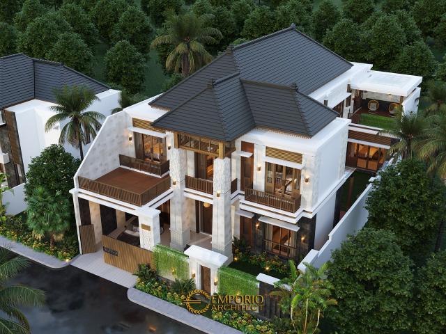 Desain Master Plan Rumah Villa Bali 2 Lantai Bapak Era Johny di Surakarta, Jawa Tengah