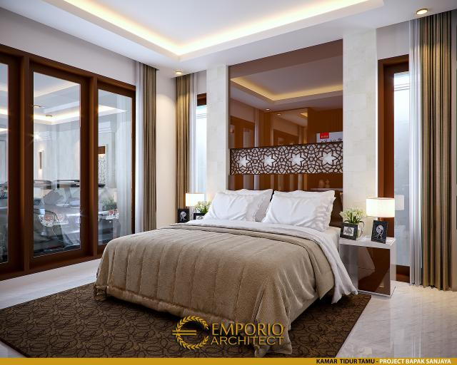Desain Kamar Tidur Tamu Rumah Villa Bali 2 Lantai Bapak Sanjaya di Denpasar, Bali