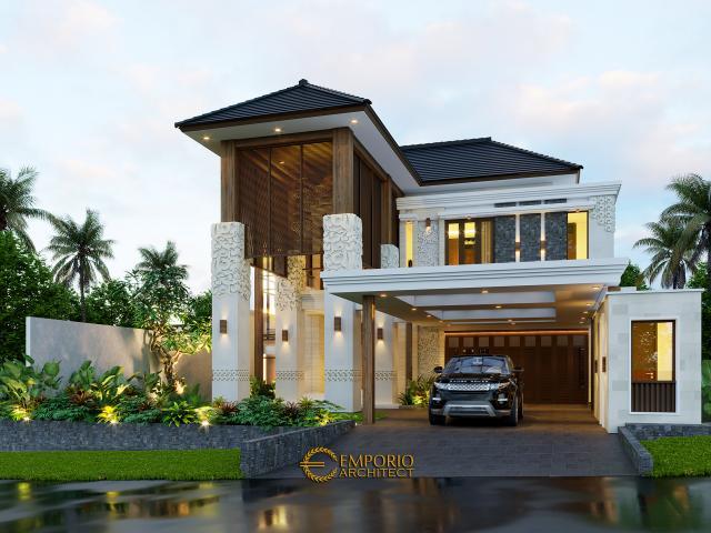 Desain Rumah Villa Bali 2 Lantai Bapak Reno di  Bandung, Jawa Barat