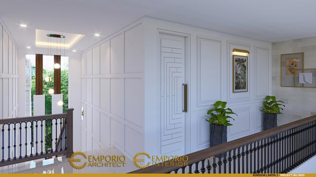 Desain Koridor Rumah Villa Bali 2 Lantai Ibu Widi di Bandung, Jawa Barat