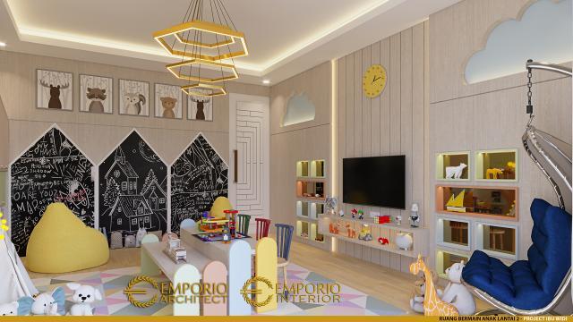 Desain Ruang Bermain Anak Rumah Villa Bali 2 Lantai Ibu Widi di Bandung, Jawa Barat