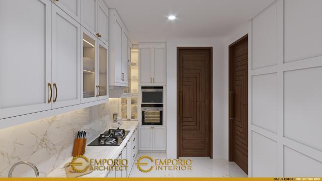Desain Dapur Kotor Rumah Villa Bali 2 Lantai Ibu Widi di Bandung, Jawa Barat