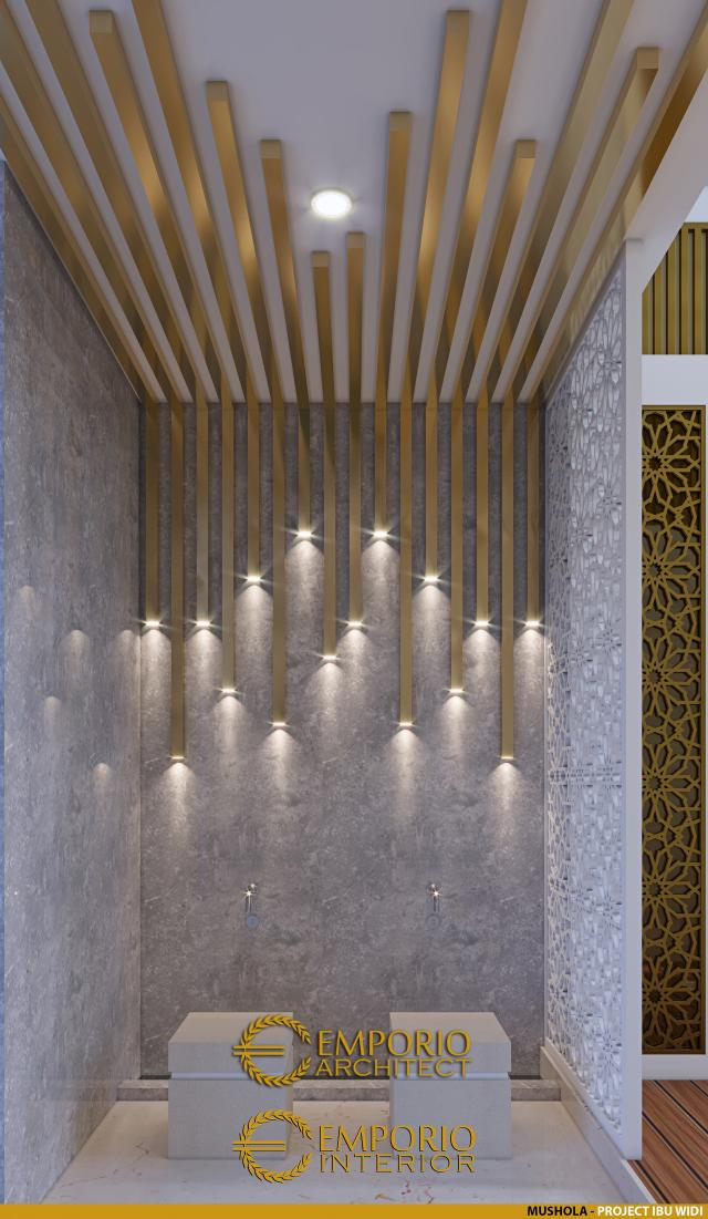 Desain Mushola Rumah Villa Bali 2 Lantai Ibu Widi di Bandung, Jawa Barat