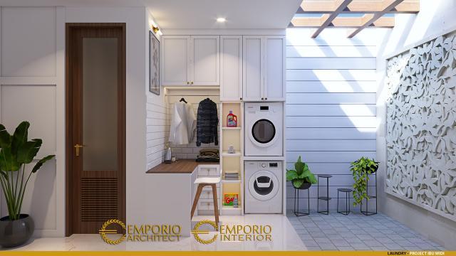 Desain Laundry Rumah Villa Bali 2 Lantai Ibu Widi di Bandung, Jawa Barat
