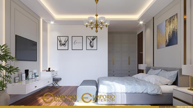 Desain Kamar Tidur Tamu Rumah Villa Bali 2 Lantai Ibu Widi di Bandung, Jawa Barat