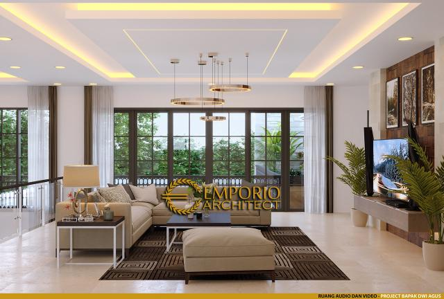 Desain Ruang Audio dan Video Rumah Villa Bali 2 Lantai Bapak Dwi Agus di Semarang, Jawa Tengah