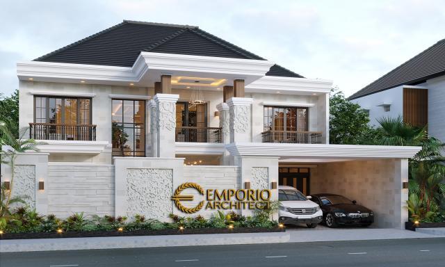 Desain Rumah Villa Bali 2 Lantai Bapak Dwi Agus di  Semarang, Jawa Tengah