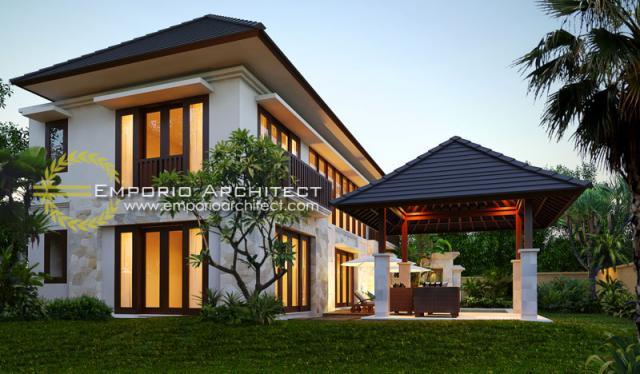 Desain Exterior 2 Rumah Villa Bali 2 Lantai Ibu Yoni di Tabanan, Bali