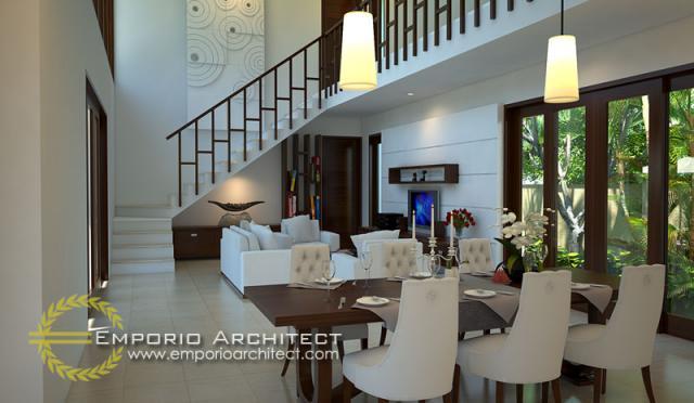 Desain Interior Rumah Villa Bali 2 Lantai Ibu Yoni di Tabanan, Bali