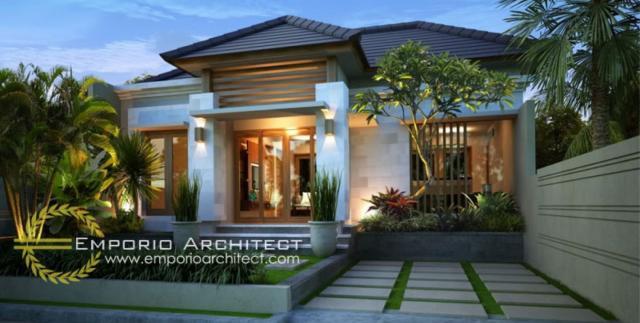 Desain Exterior Villa Style Villa Bali 1 Lantai Garden Residence di Bali