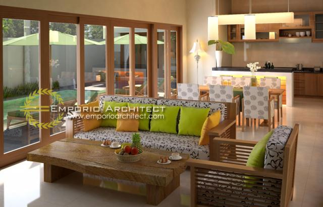 Desain Interior 5 Villa Style Villa Bali 1 Lantai Ibu Maryam di Bali