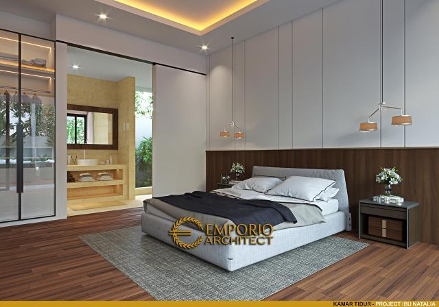 Desain Kamar Tidur Villa Modern 1 Lantai Ibu Natalia di Bali