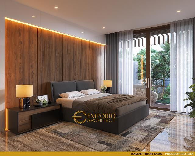 Desain Kamar Tidur Tamu Villa Modern 2 Lantai Ibu Ista di Bogor