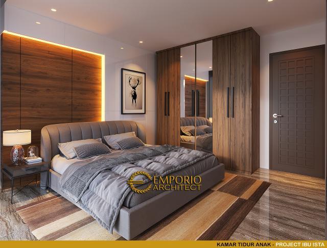 Desain Kamar Tidur Anak Villa Modern 2 Lantai Ibu Ista di Bogor