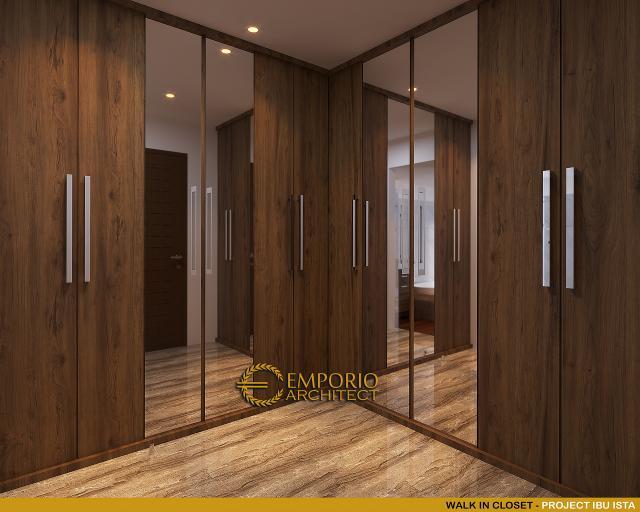 Desain Walk In Closet Villa Modern 2 Lantai Ibu Ista di Bogor