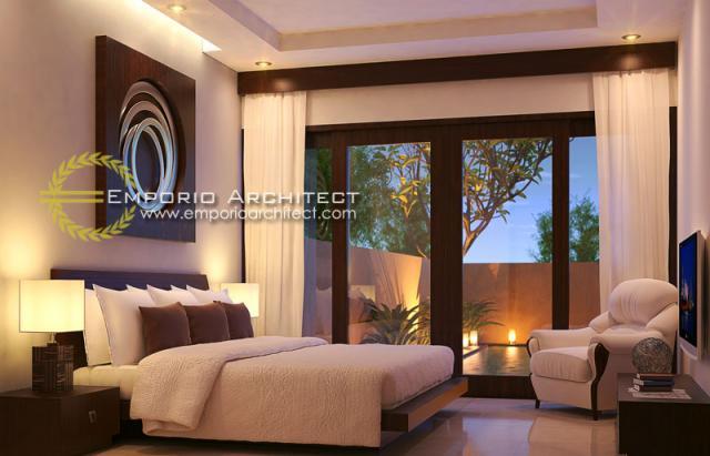 Desain Kamar Tidur Volcom Kenanga Villas Style Villa Bali 1 Lantai di Bali