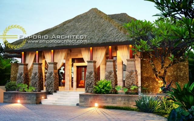 Desain Exterior 1 Zen Spa Style Villa Bali 1 Lantai di Nusa Dua, Bali