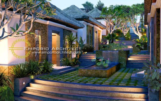 Desain Exterior 2 Zen Spa Style Villa Bali 1 Lantai di Nusa Dua, Bali