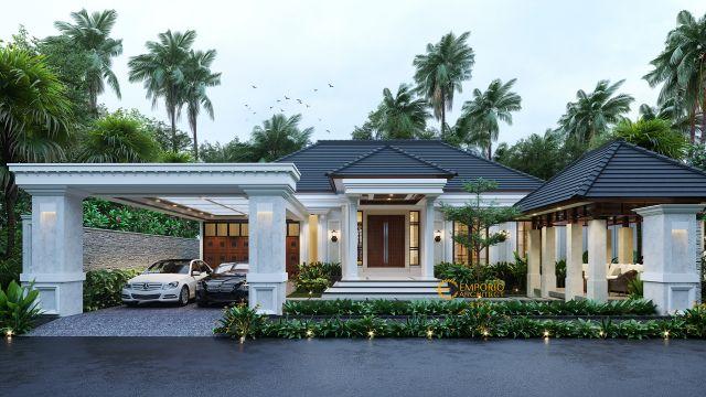 Desain Rumah Classic 1 Lantai Ibu Olivia di  Aceh