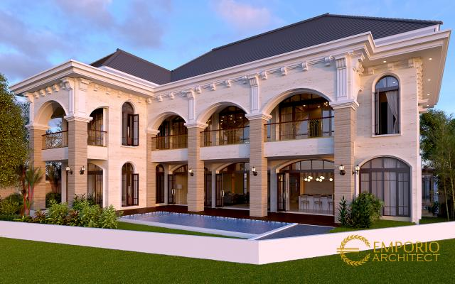 Desain Rumah Mediteran 2 Lantai Bapak Agus di  Balikpapan
