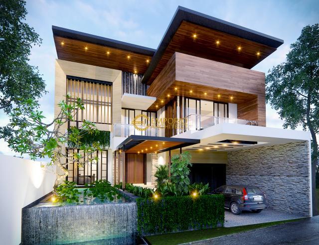 Desain Rumah Modern 2 Lantai Bapak Indra di  Bandung