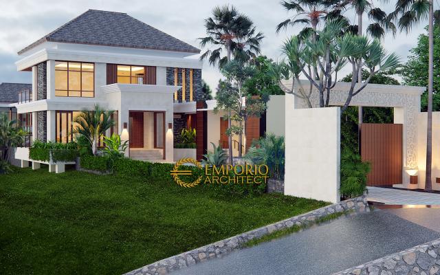 Desain Exterior 1 Rumah Villa Bali 2 Lantai Ibu Winona di Bandung
