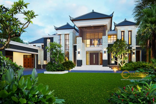 Desain Rumah Villa Bali 2 Lantai Bapak Irwan di  Banjarmasin