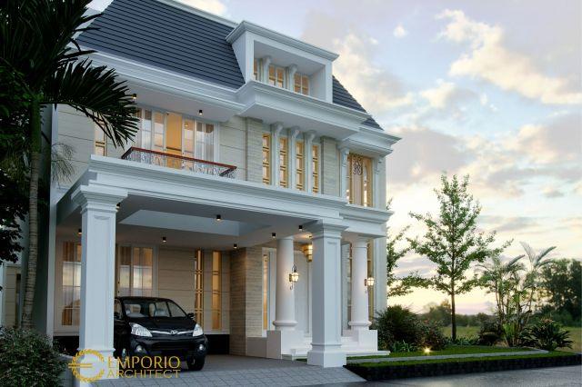 Desain Rumah Hook Classic 2.5 Lantai Bapak Anas di  Banten