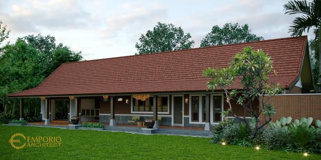 Desain Tampak Depan 1 Rumah Unik 1 Lantai Ibu Linda di Banyuwangi, Jawa Timur