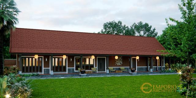Desain Tampak Depan 2 Rumah Unik 1 Lantai Ibu Linda di Banyuwangi, Jawa Timur
