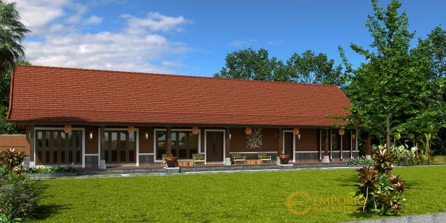 Desain Tampak Depan 3 Rumah Unik 1 Lantai Ibu Linda di Banyuwangi, Jawa Timur