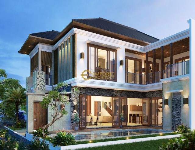 Desain Rumah Villa Bali 2 Lantai Ibu Ponky di  Bekasi