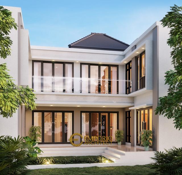 Desain Tampak Belakang Rumah Modern 2 Lantai Ibu Sandra di Bekasi