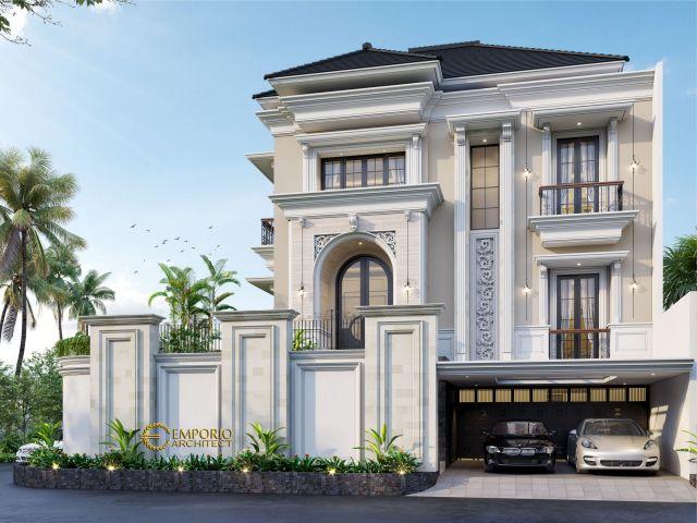Desain Rumah Hook Classic 2.5 Lantai Ibu Soraya di  Bekasi, Jawa Barat