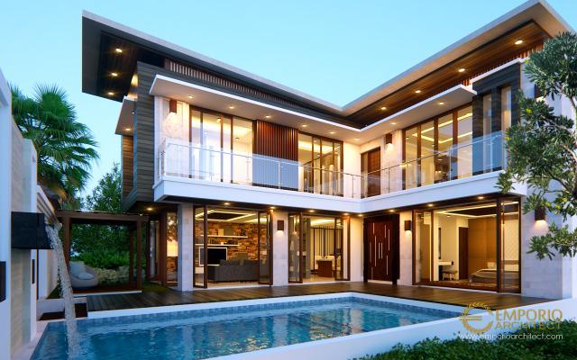 Desain Rumah Modern 2 Lantai Mr. Tim dan Mrs. Villa di  Bintaro, Jakarta Selatan