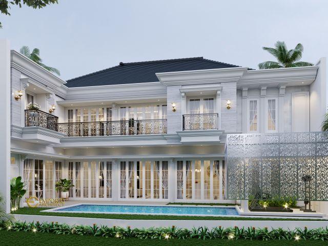 Desain Rumah Hook Classic 2 Lantai Bapak Paul di  Bogor, Jawa Barat