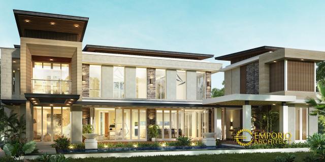 Desain Rumah Modern 2 Lantai Bapak Wijaya di  Bogor