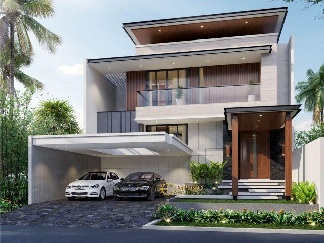 Desain Rumah Modern 2.5 Lantai Ibu Jeanette di  Bogor, Jawa Barat