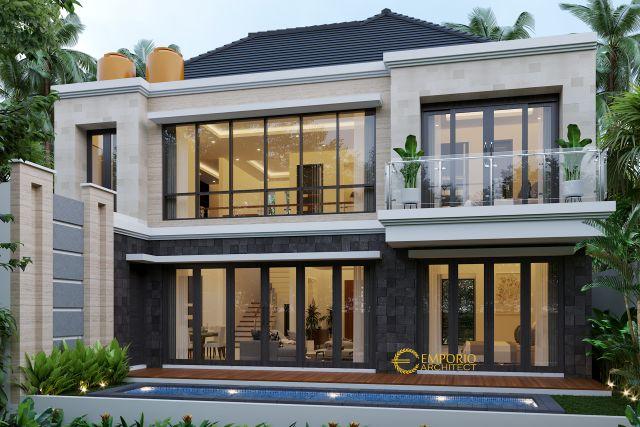 Desain Rumah Modern 2 Lantai Bapak Yadi di  Bontang, Kalimantan Timur