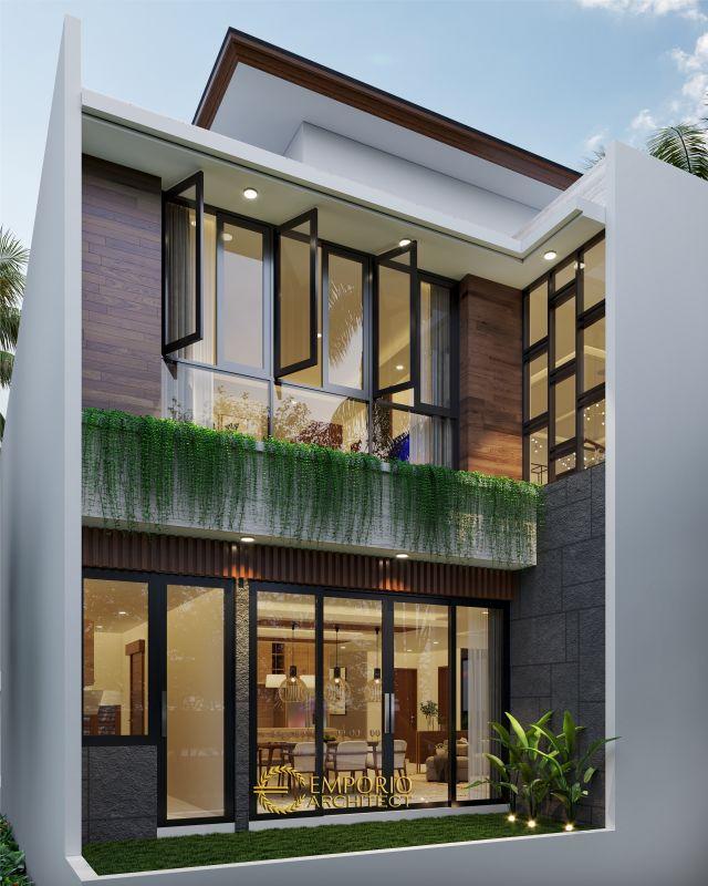 Desain Rumah Hook Villa Bali 2.5 Lantai Bapak Arief di  Cibubur, Jakarta Timur