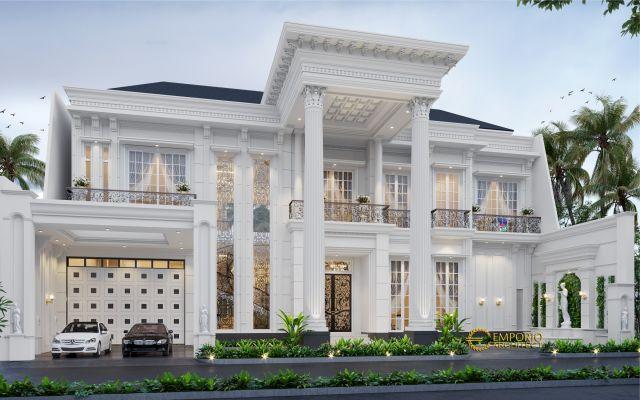 Desain Rumah Classic 2 Lantai Bapak Iwan di  Cinere, Depok