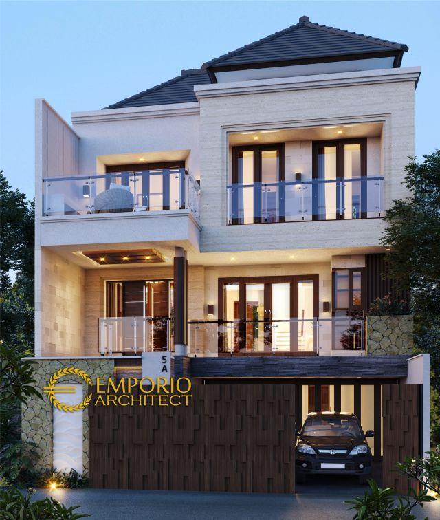 Desain Rumah Modern 3 Lantai Bapak Egi di  Denpasar, Bali