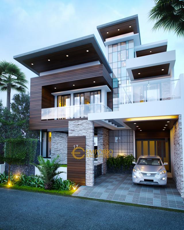 Desain Rumah Modern 2 Lantai Keluarga Bapak Andrika di  Tangerang
